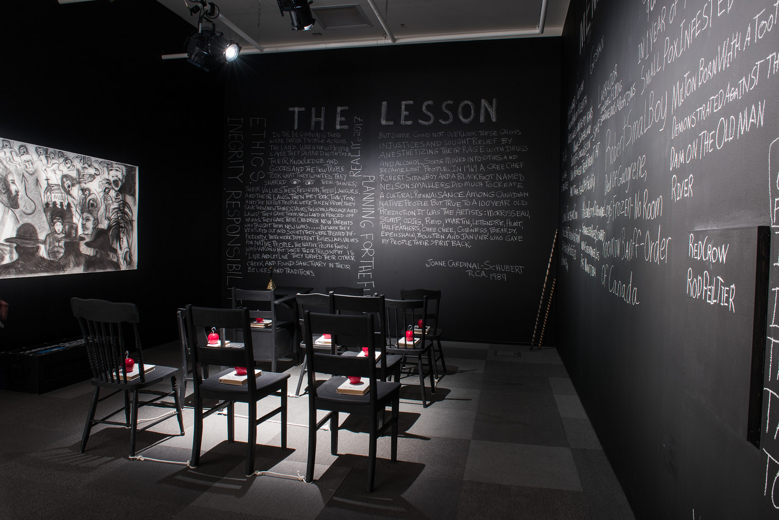 The Writing on the Wall: Works of Dr. Joane Cardinal-Schubert, RCA