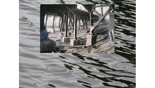 Vera Frenkel, Once Near Water, 2008, video and photo mural installation, gift of Vera Frenkel