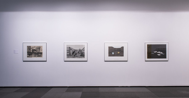 Closer Look: Investigating the Everyday (installation view, Dave Brown LCR Photo Services). Works by Rita McKeough.