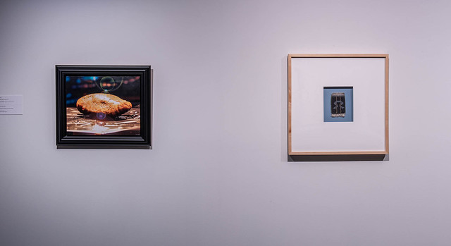 Recall: Recent Acquisitions and their New Context (installation view, Dave Brown LCR Photo Services). John Hall and Mackenzie Kelly-Frere.