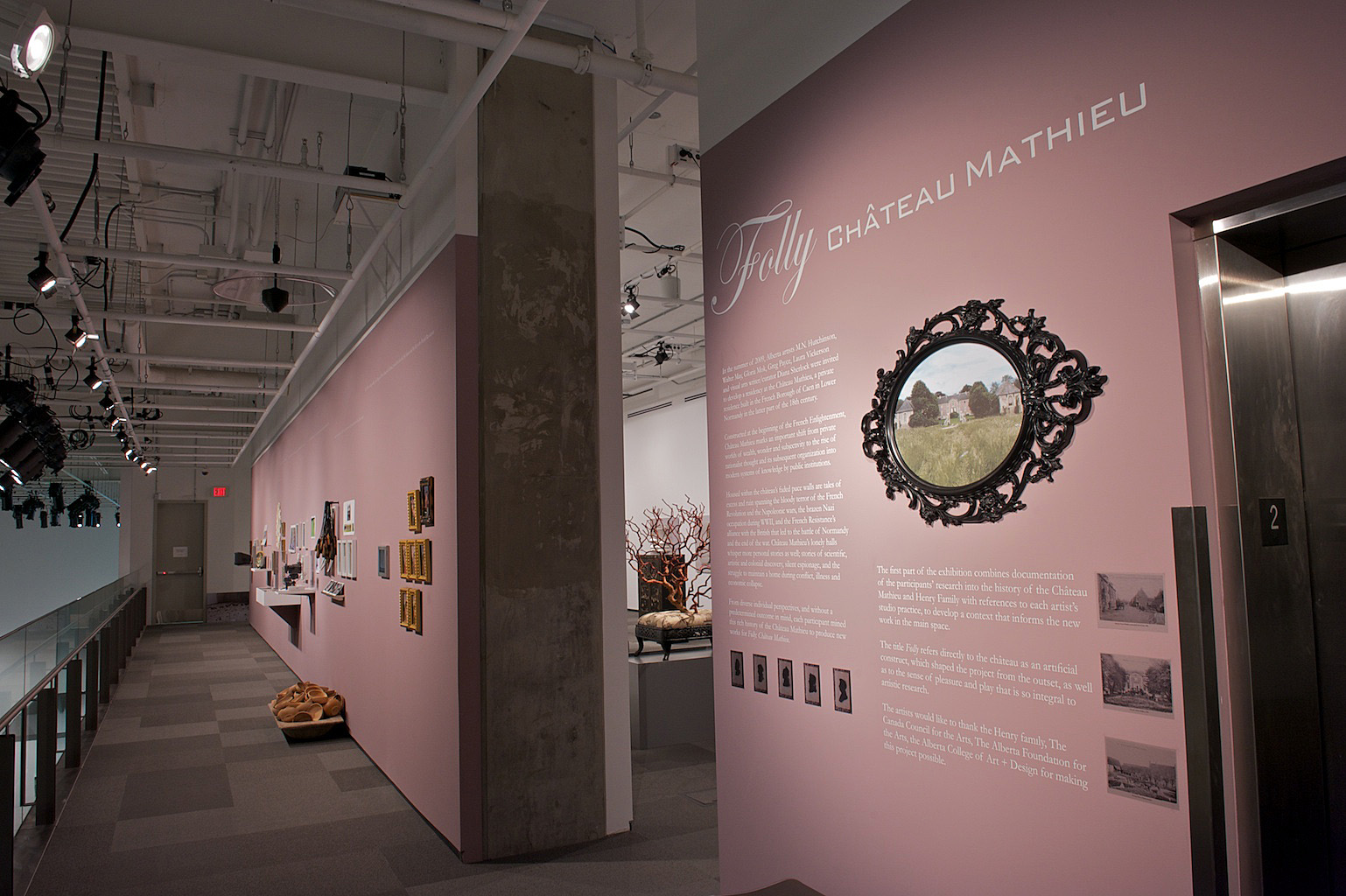FOLLY: CHÂTEAU MATHIEU, January 24, 2014 – April 5, 2014, Curated by Diana Sherlock, (installation view), Photo:  Dave Brown, LCR Photo Services.