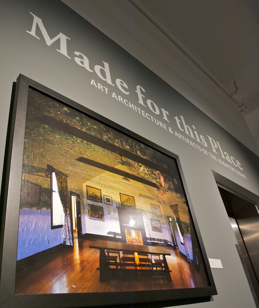 Made For This Place: The Art, Architecture and Artifacts of the Leighton Legacy. June 6 - July 19, 2014 Organized by the Leighton Arts Centre in collaboration with the Nickle Galleries, curated by Stephanie Doll. Photo:  Dave Brown, LCR Photo Services.
