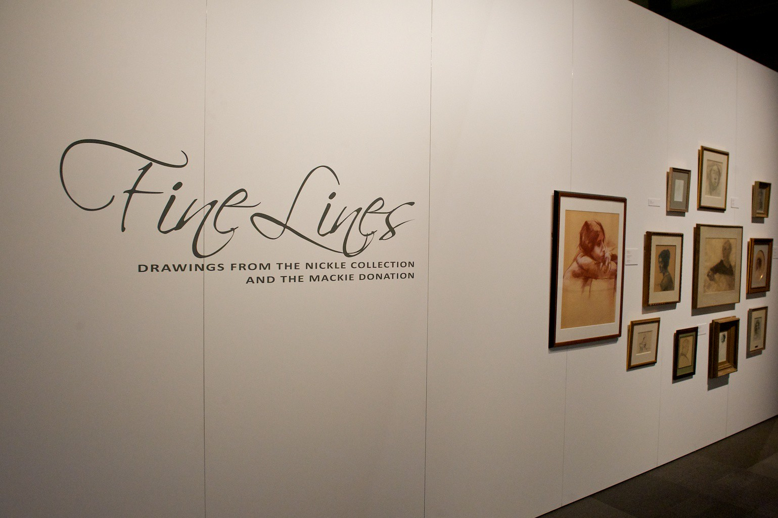 FINE LINES: DRAWINGS FROM THE NICKLE COLLECTION AND THE MACKIE DONATION, April 14, 2014 - May 24, 2014 (installation view). Photo:  Dave Brown, LCR Photo Services.